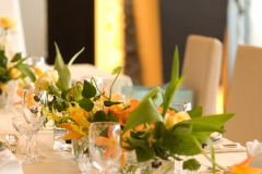 結婚式の会場装花キュート