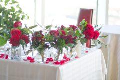 BOHOウェディングの会場装花
