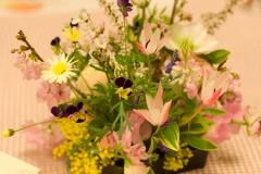 結婚式の会場装花和風