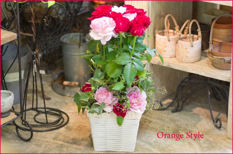 バラの開店アレンジ