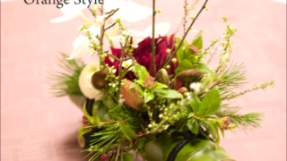 竹を使った和の会場装花